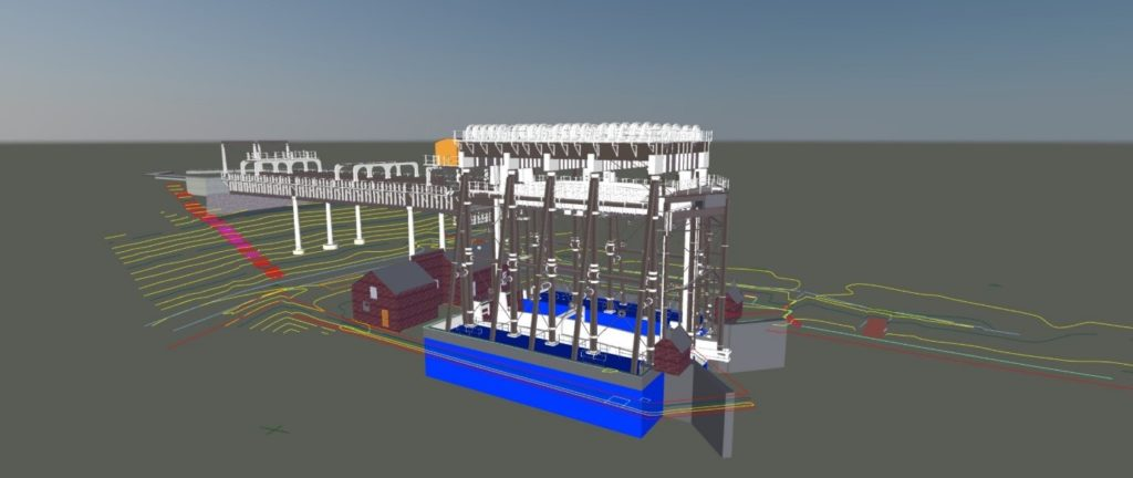 Anderton boat lift 3d revit model by Scantech International
