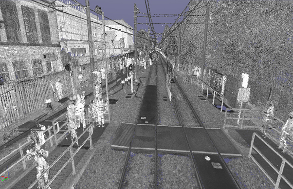 3D point cloud survey of Shaw & Compton Metro Station