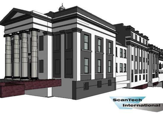 3D BIM Revit Model of Oldham Town Hall