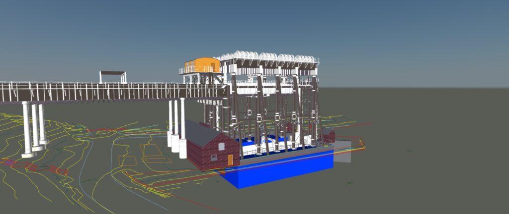 Anderton Boat lift 3D BIM Revit Model