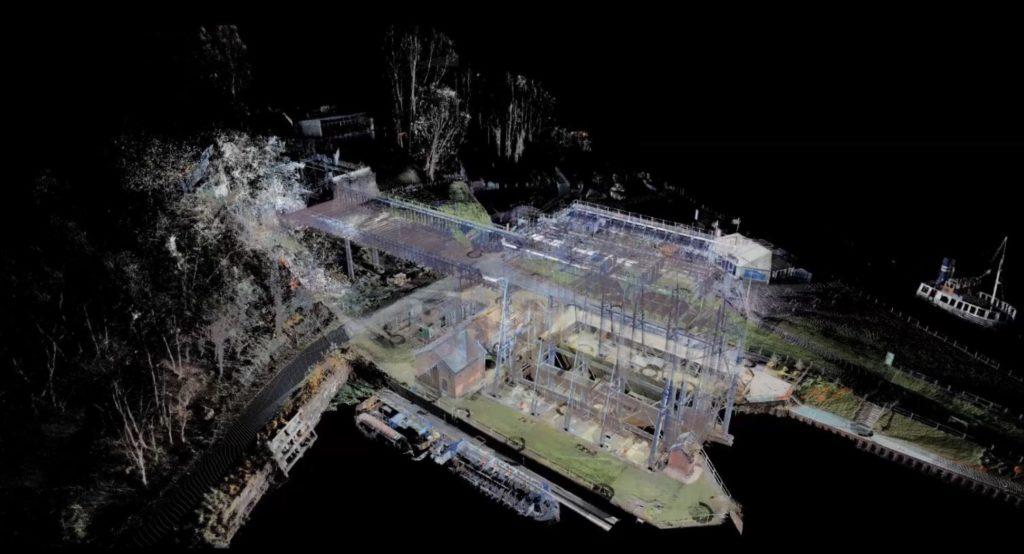 3D pointcloud of Anderton Boat Lift