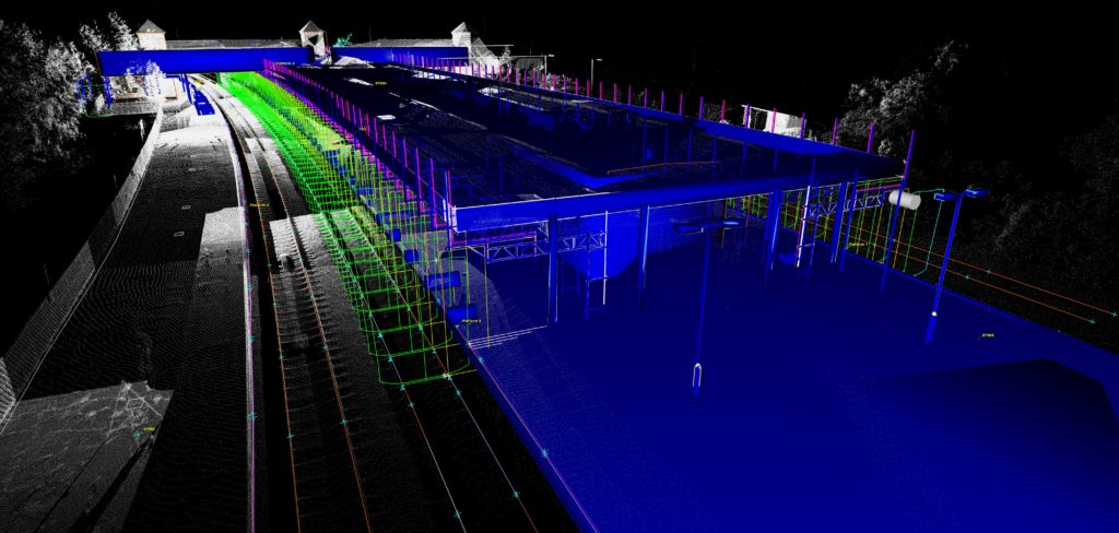 llanducno junction point cloud and 3D model by Scantech